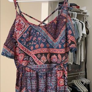 Floral/Paisely Maxi Dress - AEO